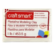 Craft Smart Plastalina Modeling Clay, White