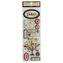 Recollections Signature Dimensional Stickers, Family