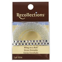 Bling on a Roll Double Row Rhinestones, 4 mm Clear