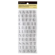 Recollections Alphabet Stickers, Silver Glitter Rhinestone Letters