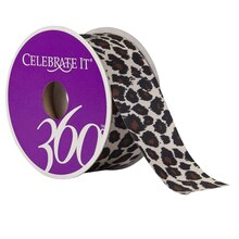 Celebrate It 360 Satin Ribbon, Leopard, 1 1/2""