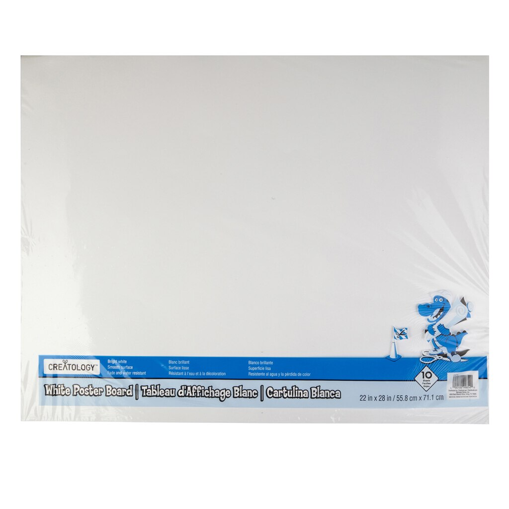 creatology� white poster board