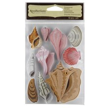 Recollections Signature Dimensional Stickers, Seashells