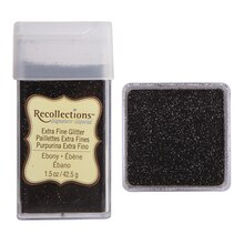 Recollections Signature Extra Fine Glitter, 1.5 oz. Ebony