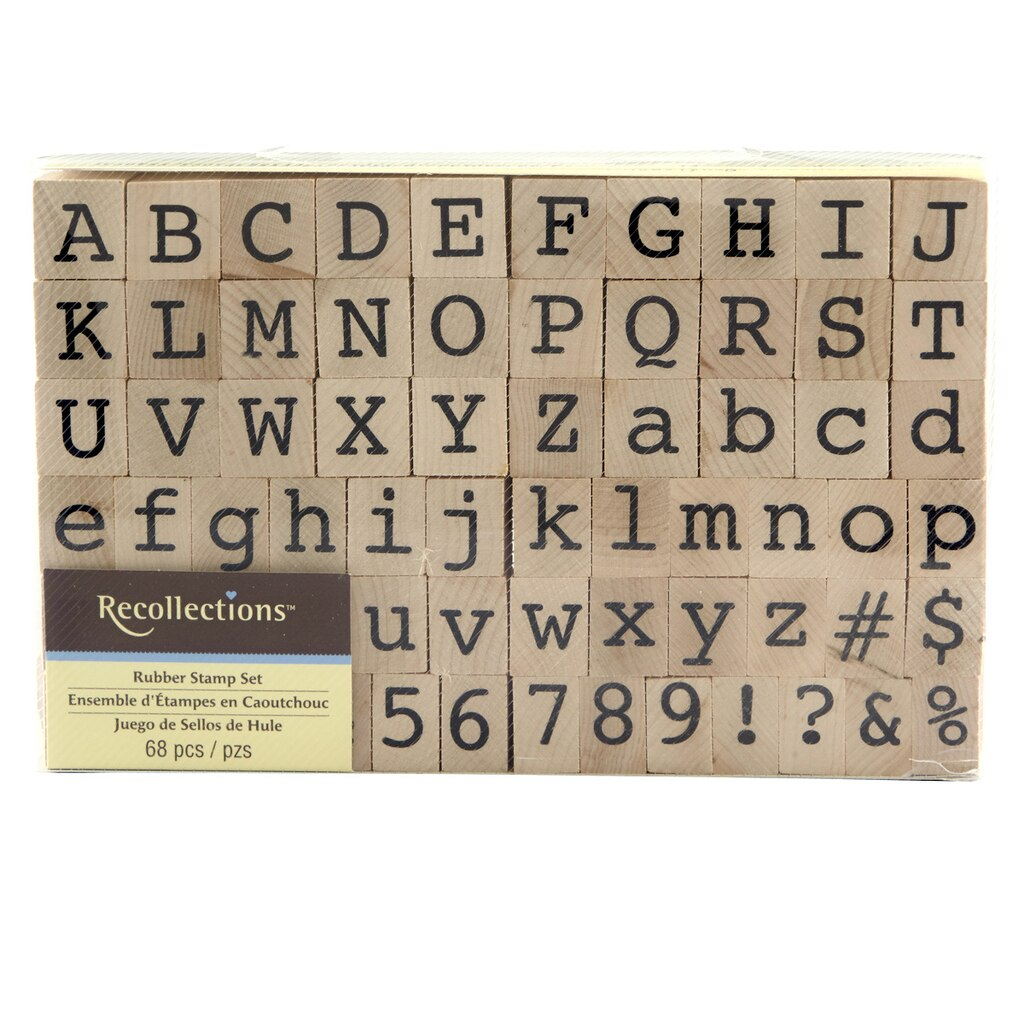 recollectionstm wood stamp alphabet numbers set With michaels letters and numbers