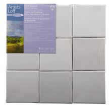 "Artist's Loft Back Stapled Deco Canvas Pack, 4"" x 4"""