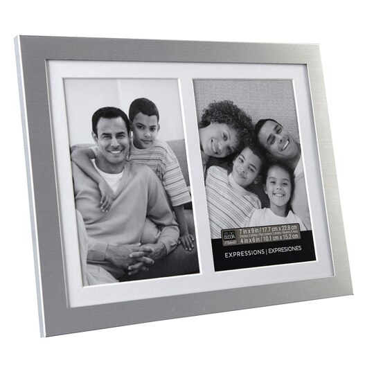 Silver 2-Opening Collage Frame, 4\