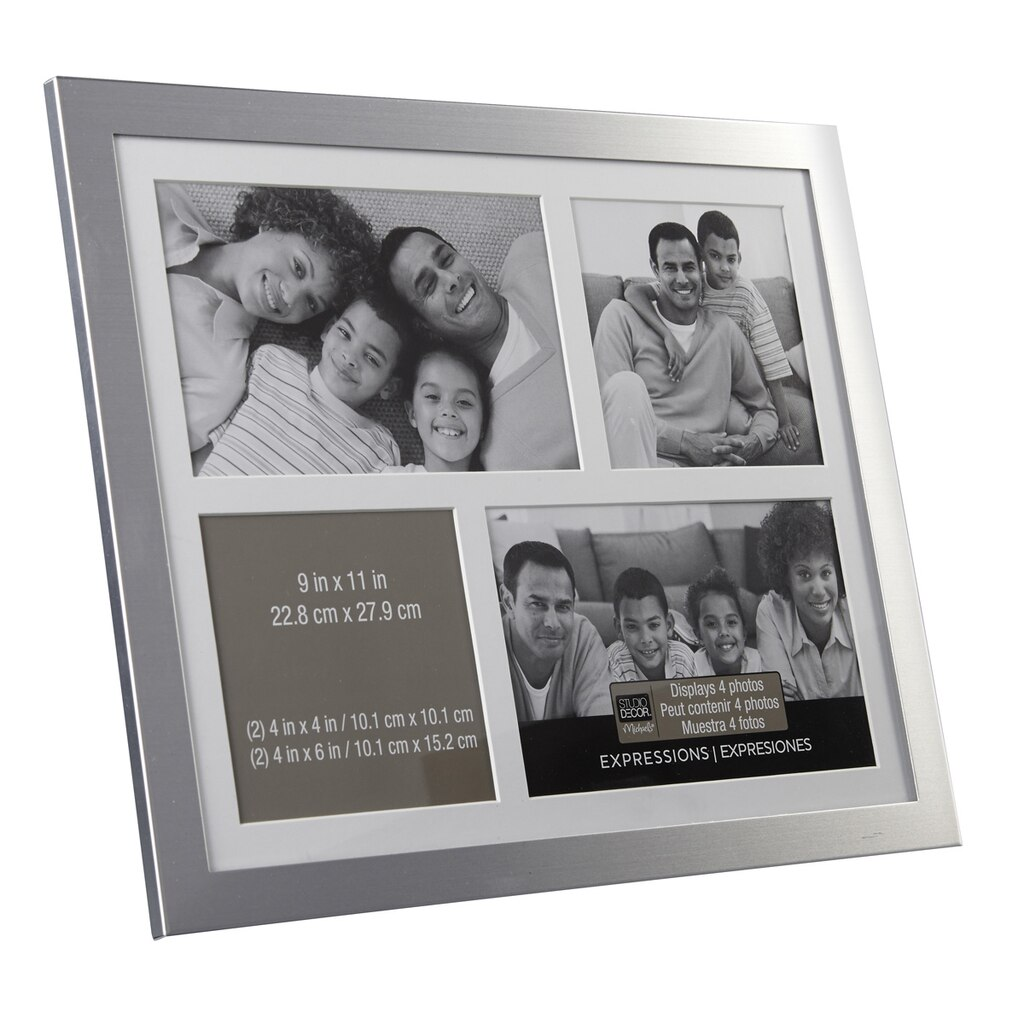 Silver 4- Opening Collage Frame, Expressions™ By Studio Décor®
