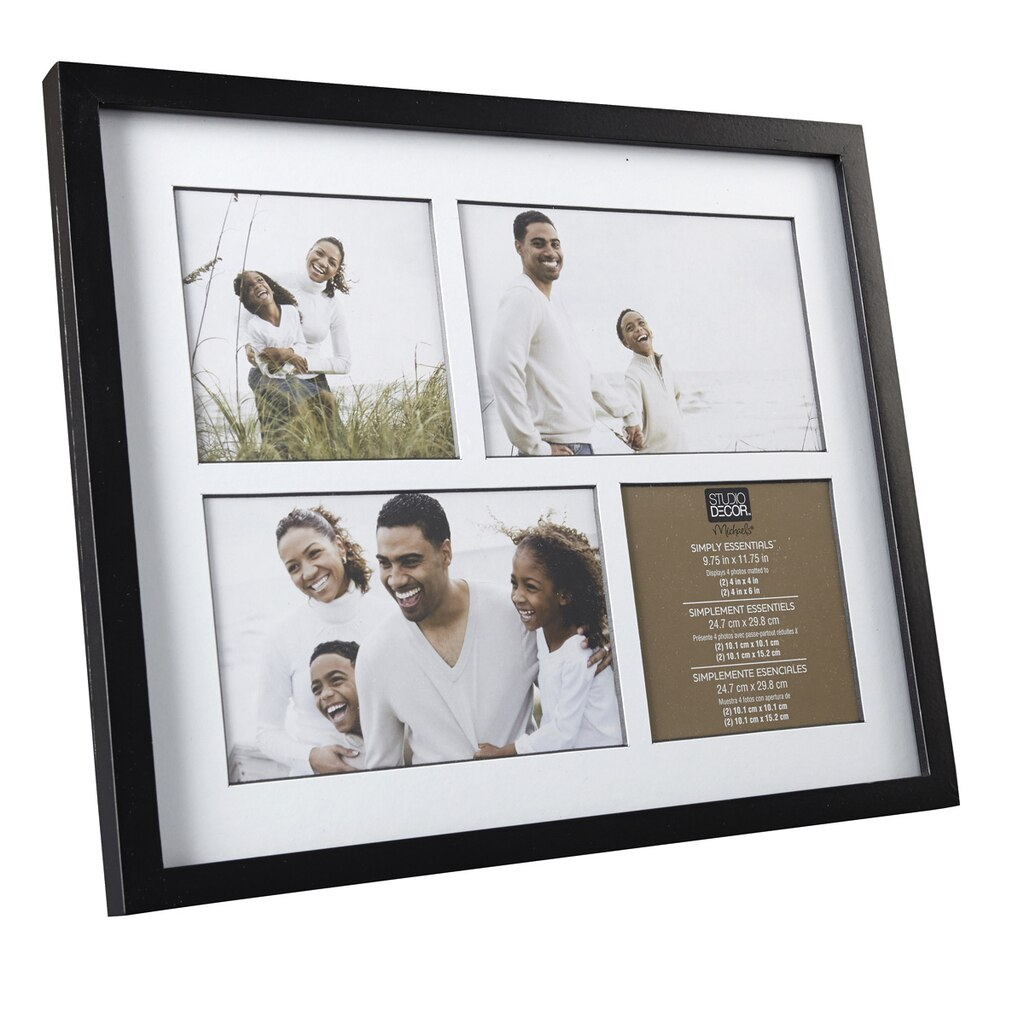 Black 4-Opening Collage Frame, Simply Essentials™ By Studio Décor®