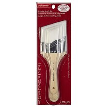 Craft Smart Angular Brush Set, White Taklon