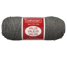 Craft Smart Yarn, Solid, Gray