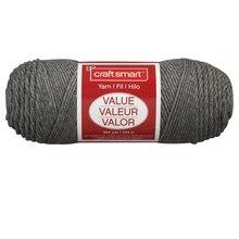 Craft Smart Yarn, Solid, Gray