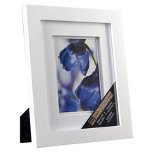 "Studio Décor Airfloat Gallery Frame with Double White Mat, White 5""x7"""
