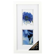 Studio Décor Airfloat Gallery 2-Opening Frame with Double Mat, White