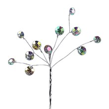 Celebrate It Occasions Branch Pick, Silver with Faceted Beads