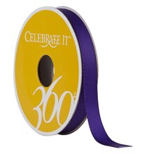 "Celebrate It 360 Double-Faced Satin Ribbon, 3/8"", Purple"