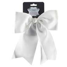 Celebrate It Head to Toe Cheerleader Bow, White