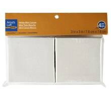 "Artist's Loft Necessities Mini Stretched Canvas, 3"" x 3"" White"