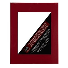 "Studio Décor Pre-cut Single Mat, 11"" x 14"" with 8"" x 10"" Opening, Red"