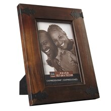 "Studio Décor Expressions Dark Pine With Corner Accents Frame, 4"" x 6"""