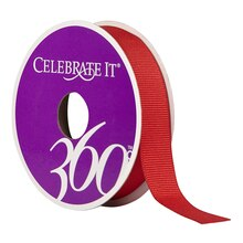 "Celebrate It 360 Grosgrain Ribbon, 5/8"", Red"