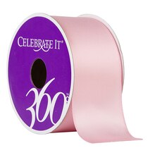 "Celebrate It 360 Satin Ribbon, 1 1/2"", Pink"