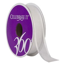 """Celebrate It 360 Sheer Wired Ribbon, 5/8"""", White"""