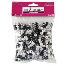 Creatology Pony Beads, Monochrome