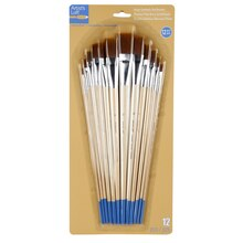 Artist's Loft Necessities Brown Synthetic Flat Brushes