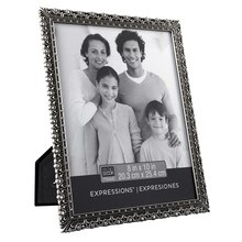 "Studio Décor Expressions Ornate Pewter Frame with Jewels, 8"" x 10"""