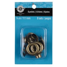 "Loops & Threads Eyelets, 7/16"", Brass"