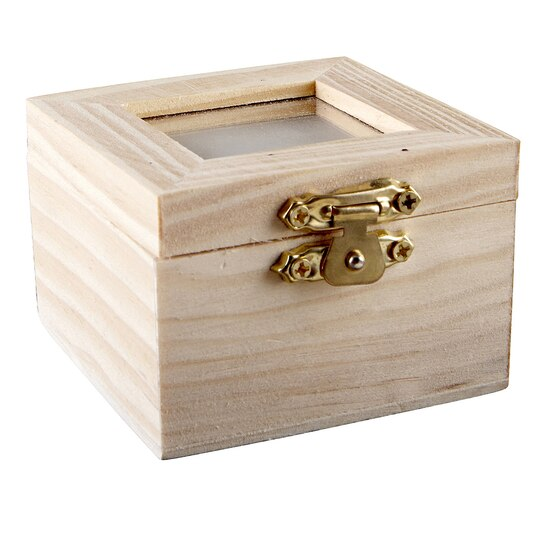 Artminds wood shadow box with lid for Michaels crafts jewelry supplies