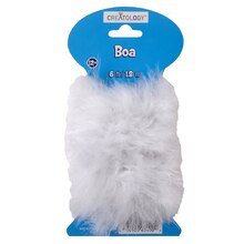 Creatology Marabou Craft Boa, White