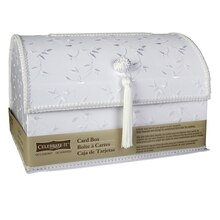 Celebrate It Occasions White Satin Card Box