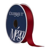"Celebrate It Mega Satin Ribbon, 5/8"", Red"