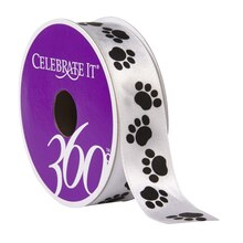 Celebrate It 360 Satin Ribbon, Paws
