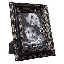 "Studio Décor Expressions Ornate Frame, Black & Bronze, 5"" x 7"""