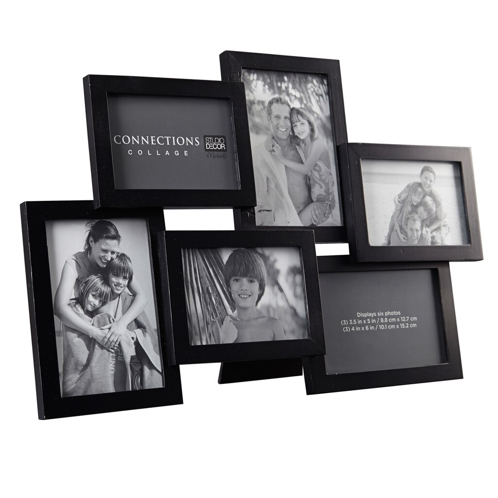 Black 6-Opening Collage Frame, Expressions™ By Studio Décor®