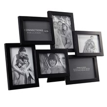 Studio Décor Expressions Collage Frame, 6 Opening, Black