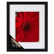 "Studio Décor Airfloat Gallery Wall Frame with Double White Mat, Black 11""x14"""