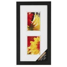 Black 2-Opening Gallery Frame with Double Mat by Studio Décor