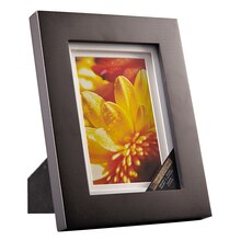 """Studio Décor Airfloat Gallery Frame with Double White Mat, Black 4""""x6"""""""