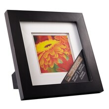 black gallery frame with double mat by studio dcor 5 x