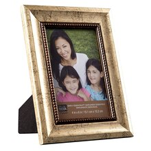 "Studio Décor Simply Essentials Ornate Frame With Beading Fillet, 4"" x 6"""