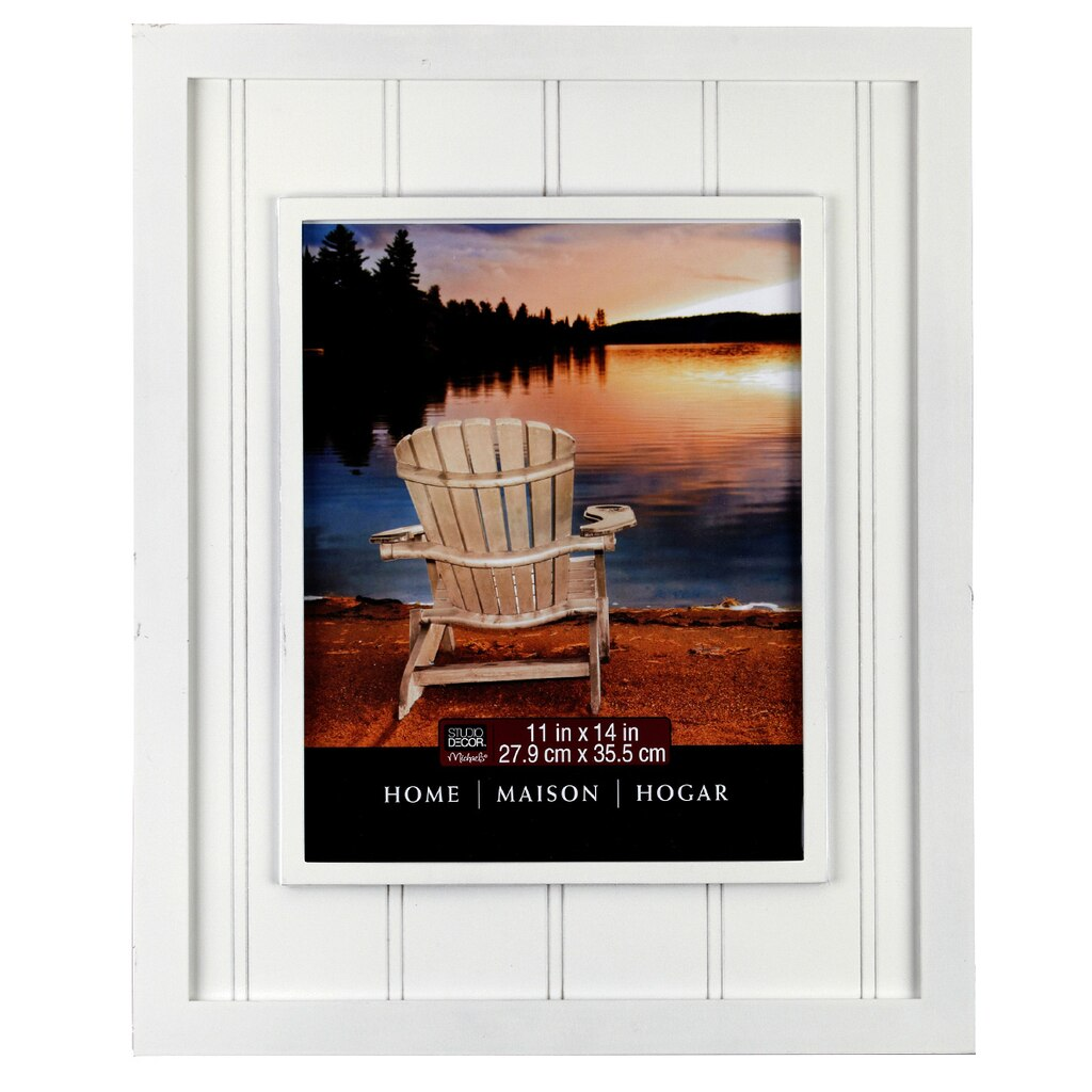 "Decorative Accents For Home: Studio Décor® Home Collection Beadboard Frame, White 11"" X 14"""