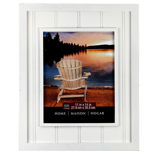 Studio d cor home collection beadboard frame white 11 x 14 for Michaels home decor