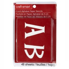 "Craft Smart Stencils, 2"" Genie Alphabet"