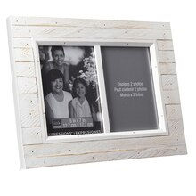 "Studio Décor Expressions Salvage Chic Frame, Two 5"" x 7"" White"