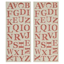 Recollections Alphabet Stickers, Epoxy with Rhinestones, Pink