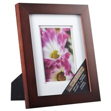 "Studio Décor Airfloat Gallery Frame with Double Mat, Walnut 5"" x 7"""